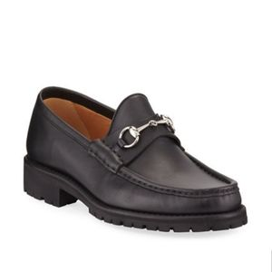 Gucci lug sole horsebit moccasin loafers size 9